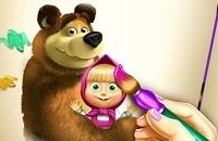 Masha En De Bear Coloring