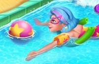 Galaxie-Mädchen-Swimmingpool