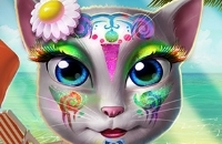 Maquillaje Kitty Beach
