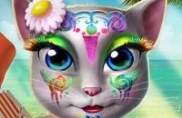 Maquillaje Kitty Beach
