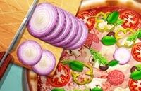 Pizza-echtes Lebencooking