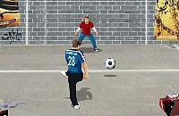 Speel nu het nieuwe voetbal spelletje Straat Voetbal