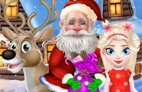 Retten Sie Verletzte Sankt Und Weihnachtselche