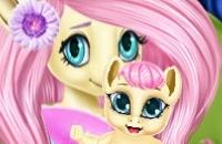 Pony Fluttershy Baby Birth
