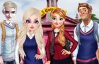Famille Frozen Aller Au Collège