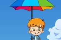 Guarda-chuva Caindo Cara