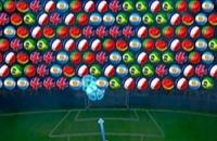 Speel nu het nieuwe voetbal spelletje Bubble Shooter World Cup