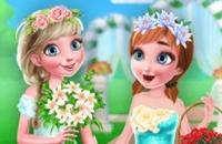Gefrorene Schwester Blumenmädchen