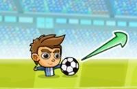 Speel nu het nieuwe voetbal spelletje Puppet Soccer Challenge