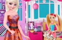 Elsa Suite Shopping For Barbie