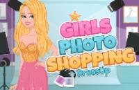Mädchen Photoshopping Dress-Up