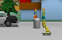 Simpsons Naked Skate