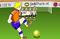 Speel nu het nieuwe voetbal spelletje Skip de bal er in