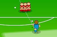 Speel nu het nieuwe voetbal spelletje Shoot em in