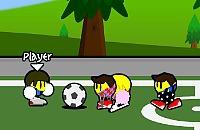 Speel nu het nieuwe voetbal spelletje Emo Voetbal