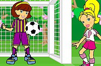 polly pocket soccer game