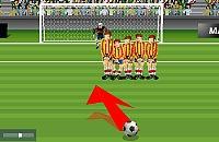 Speel nu het nieuwe voetbal spelletje Vrije Trap
