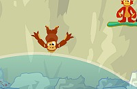 Monkeys diving