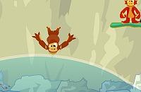 Monkeys diving