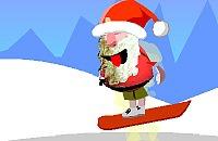Santa snowboard 1