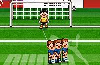 Speel nu het nieuwe voetbal spelletje Vrije trap nemen 2