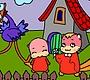 Speel het nieuwe girl spel: Tekenfilm Kleurplaat