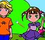 Speel het nieuwe girl spel: Stelletje Inkleuren