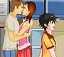 Speel het nieuwe girl spel: Bushalte Kus