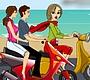 Speel het nieuwe girl spel: Scooter Kus
