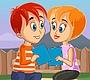 Speel het nieuwe girl spel: Verstop en Kus