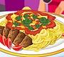 Speel het nieuwe girl spel: Spaghetti en Gehaktballen