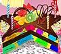 Speel het nieuwe girl spel: Kleurige Clown Taart