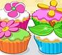 Speel het nieuwe girl spel: Cupcakes met Bloemtjes