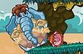 Speel het nieuwe spelletje: Snurkende Olifant - Prehistorie